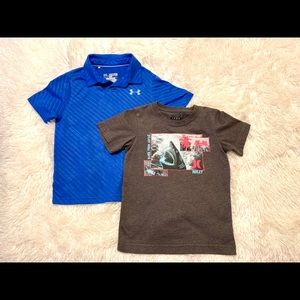 Boy's Shirts, bundle of two- Hurley & Under Armour